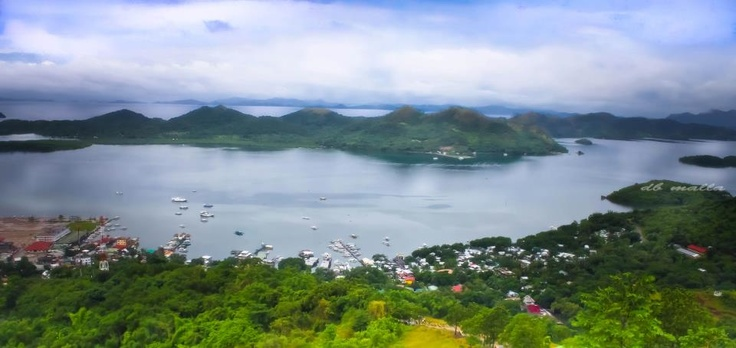 view of Coron town from the top.