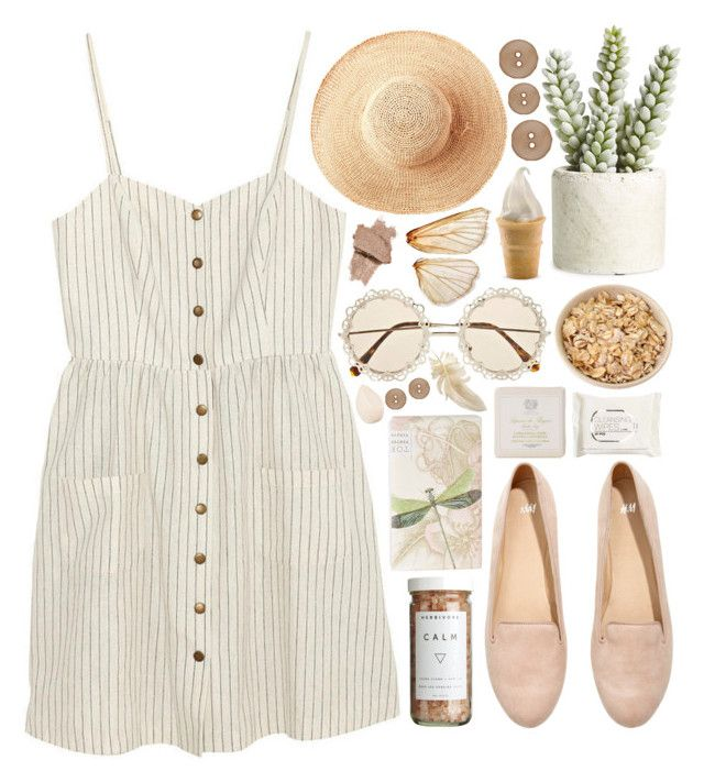 """Calm"" by ladyvalkyrie ❤ liked on Polyvore featuring Cooperative, Toast, H&M, CB2, TokyoMilk, Christian Dior, Allstate Floral, Antica Farmacista and summerhat"