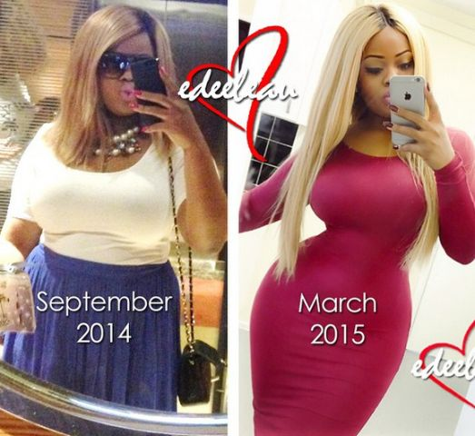 Welcome to Linda Ikeji's Blog: Photos: Edee Beau shows off the results of her waist training