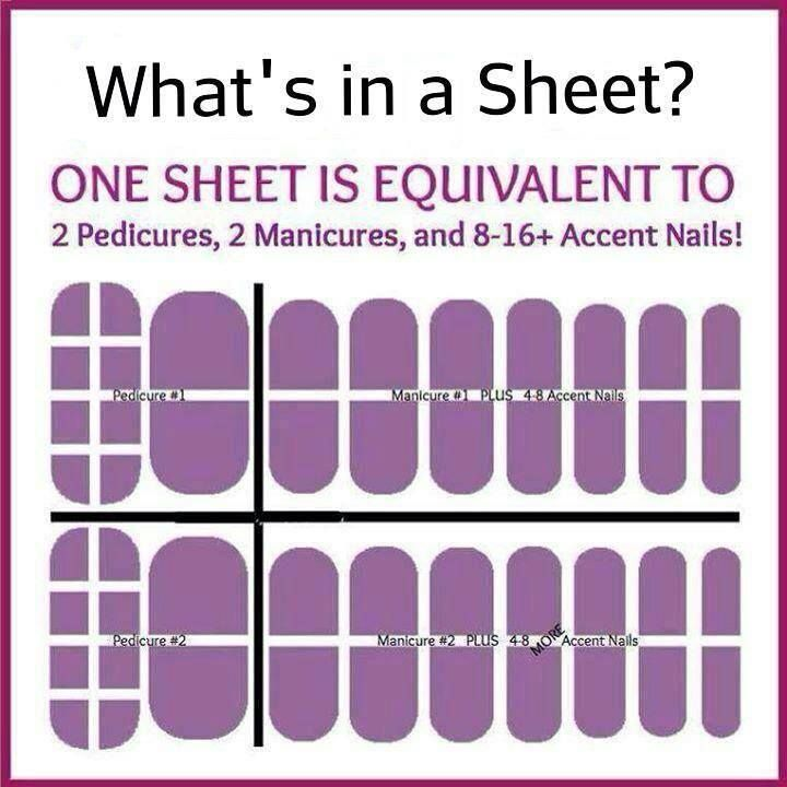 What's in one of our Jamberry Nails Wrap sheets?  With four applications in each sheet, an application is just under $4.  Less if you take advantage of our Jamberry math.  Buy 3 and receive 1 Free!  Contact me or shop at: http://www.nailsmadefun.jamberrynails.net/