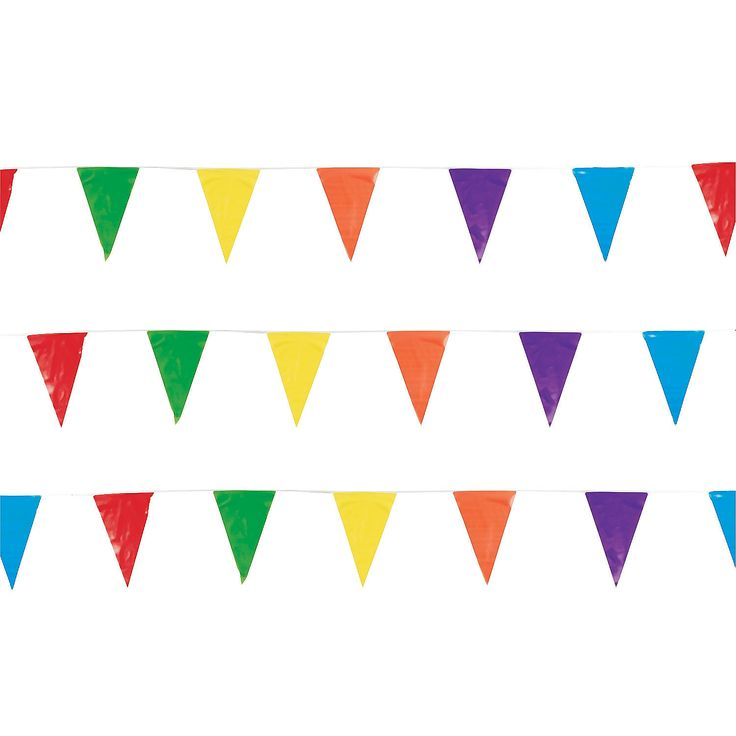 Multicolor Pennant Banner - OrientalTrading.com