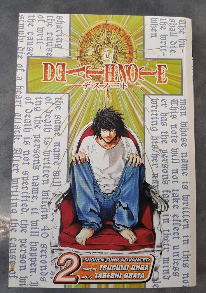 Deathnote Vol. 2 Confluence by Tsugumi Ohba GRAPHIC NOVEL Shonen Jump - English