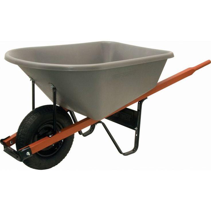 Ames Jackson 6cf Heavy Duty Wheelbarrow with Poly Tray
