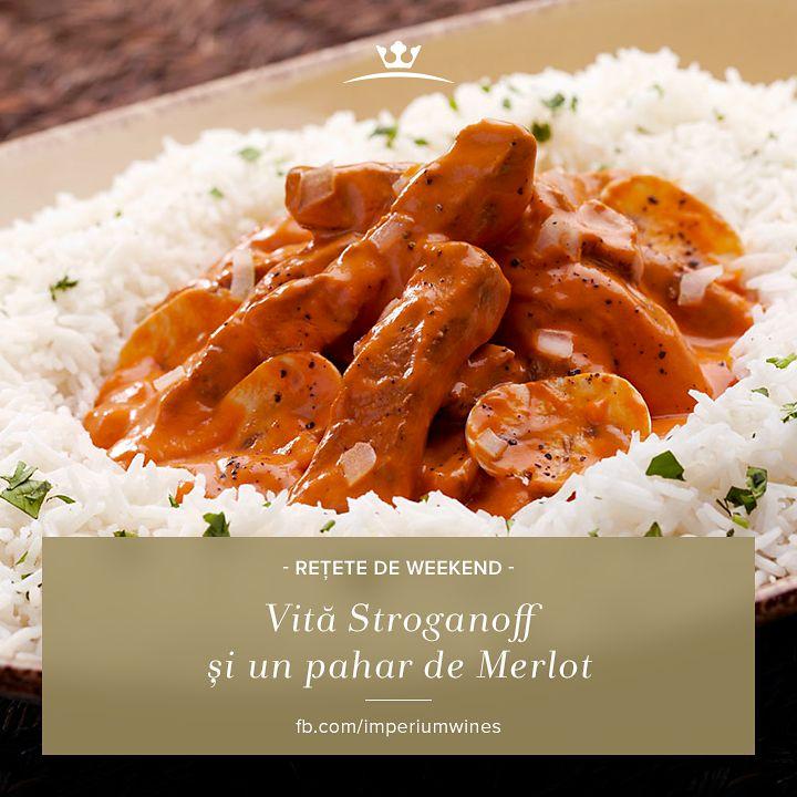 O specialitate rusească - vită Stroganoff! De savurat împreună cu un vin select: http://rios.ro/imperium-merlot.html