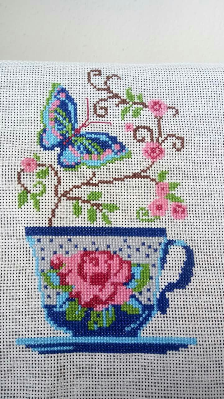 Kitchen cross stitch.