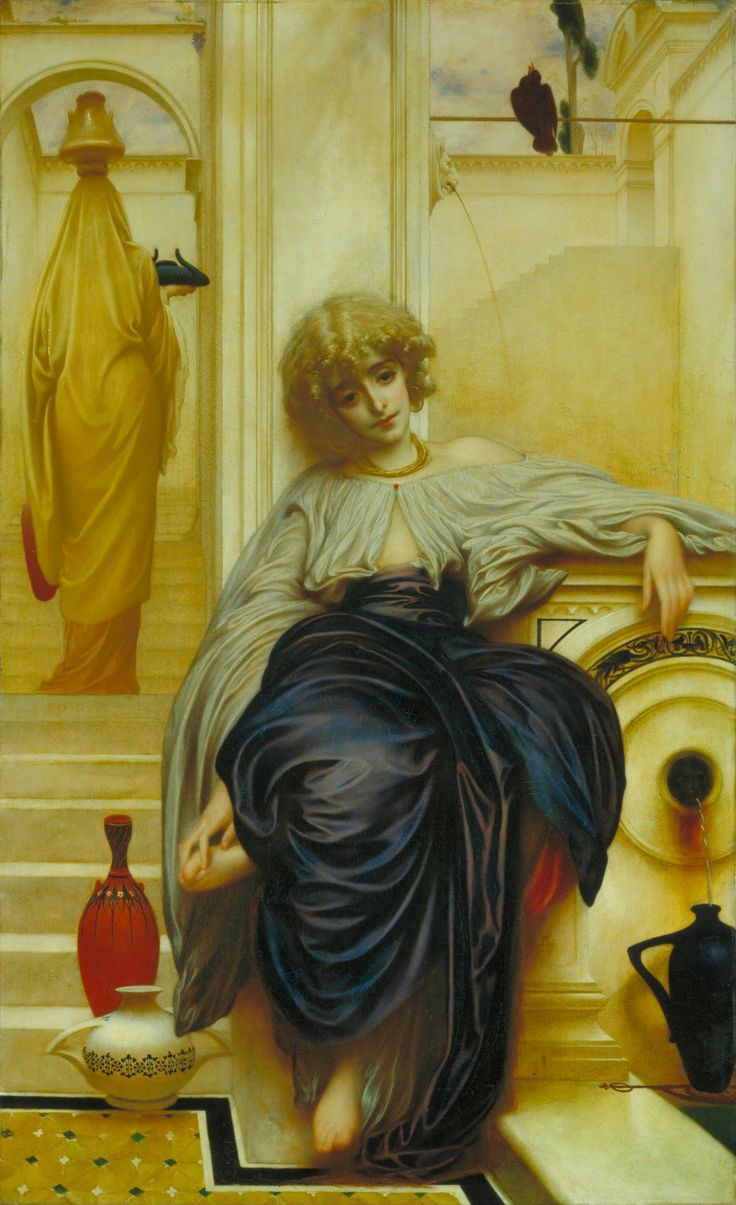 The Fisherman and the Syren., 1857 by Frederic Leighton. Academicism. mythological painting. Bristol City Museums and Art Gallery, Bristol, UK