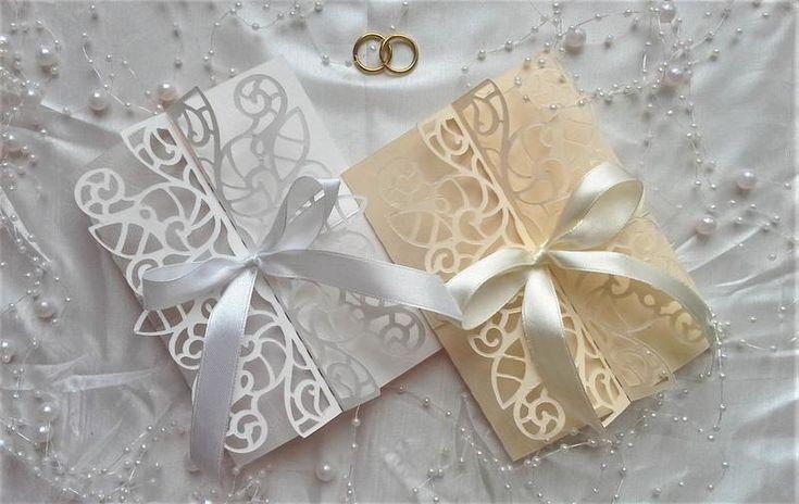 Красивые свадебные пригласительные ручной работы. Приглашения на свадебное торжество. Сделаны из итальянской бумаги для дизайна и французской ...