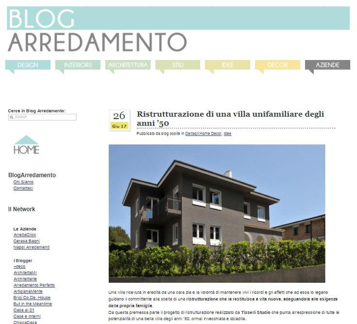 #tissellistudio single family villa in Cesena, published by BlogArredamento