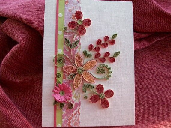 Quilled Flower Greeting Card