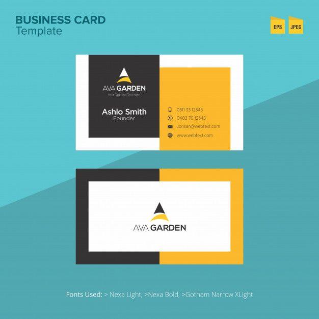 Professional Ava Garden Business Card Template Free Business Card Templates Professional Business Cards Templates Business Card Template