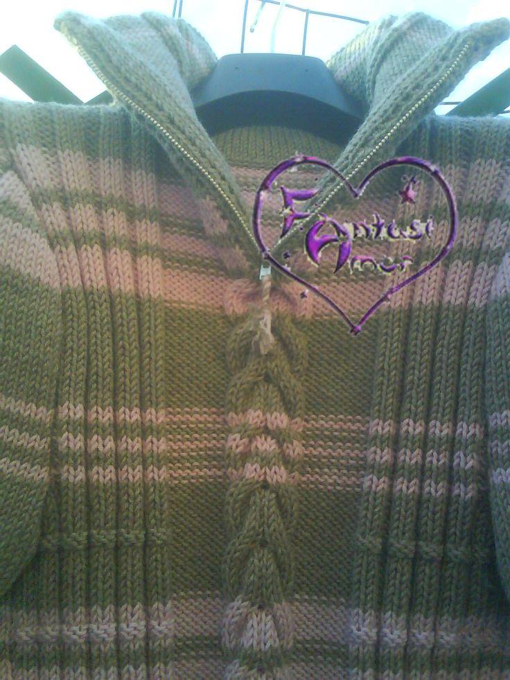maglione uomo a collo alto con cerniera, lavorazione ai ferri modello Anto Fa
