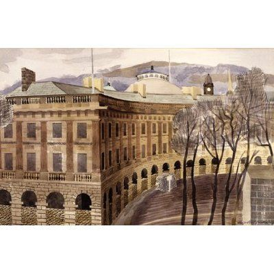 """""""The Crescent, Buxton, Derbyshire"""" by Kenneth Rowntree, 1940 (watercolour)"""