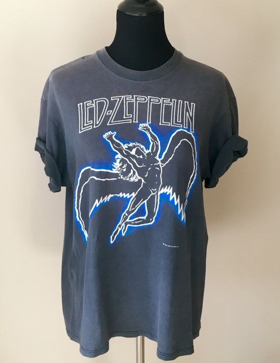 Vintage LED ZEPPELIN shirt 80s Vintage Band Tee by AshPanache