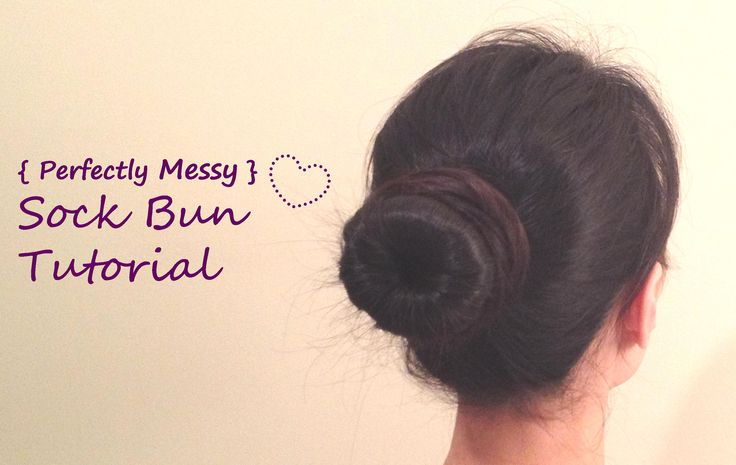 A Must Try Sock Bun for all hair types including thin, short, or layered by www.PrettyGossip.com
