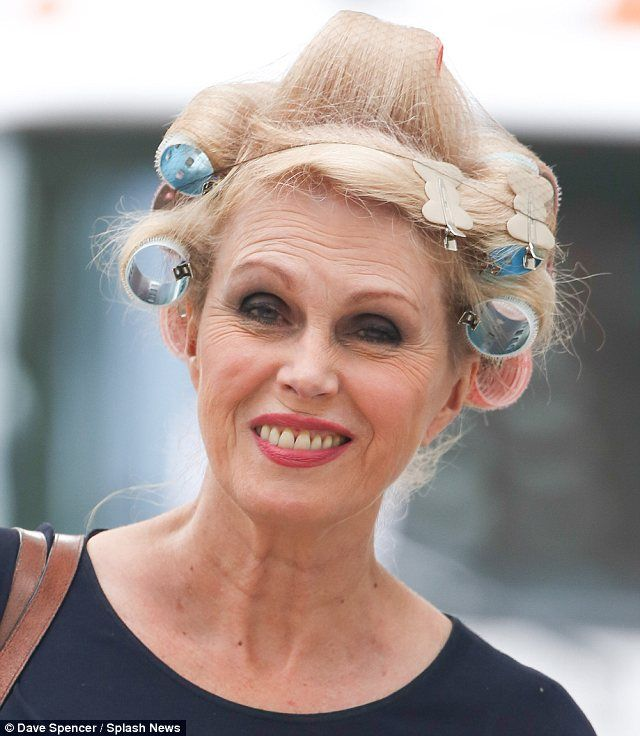 Joanna Lumley Steps Out In Curlers And A Hairnet On Movie