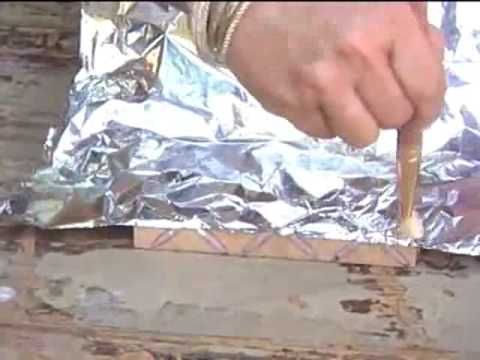 Falsa Prata Boliviana com cola quente e papel aluminio | Cantinho do Video