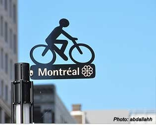Montreal bike paths