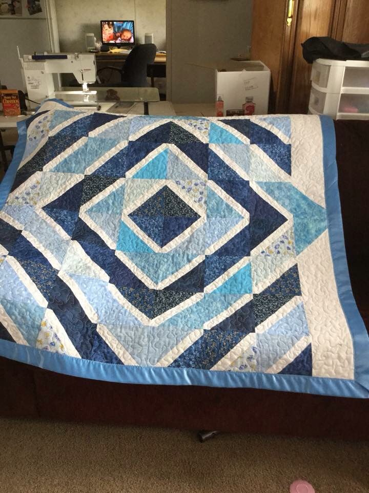 Doris Eisenbraun made this quilt for her granddaughter on her first birthday.