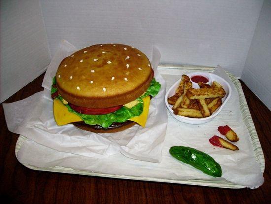 Hamburger Cake 10
