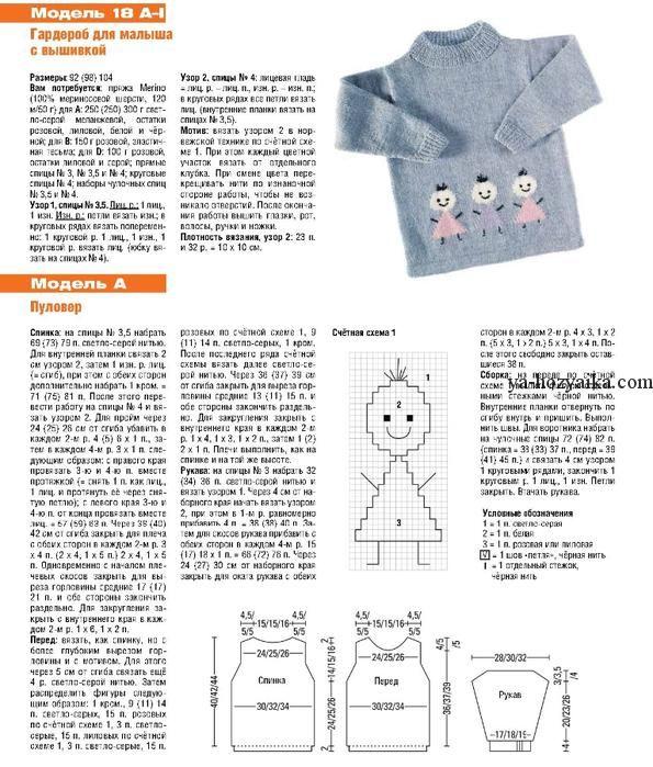 Зимний комплект для ребенка спицами. Вязание для детей ...