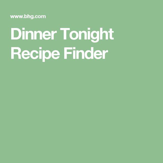 Dinner Tonight Recipe Finder