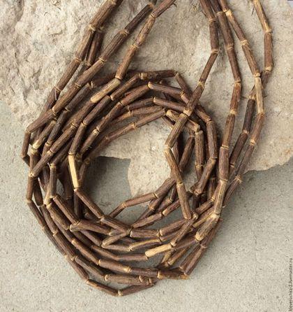 Для украшений ручной работы. Ярмарка Мастеров - ручная работа. Купить Трубочки 14х3 мм - 10 шт виноградная лоза бусины для украшений. Handmade.