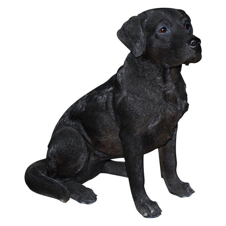 Natures Gallery Black Labrador Sitting Outdoor Statue - 83593