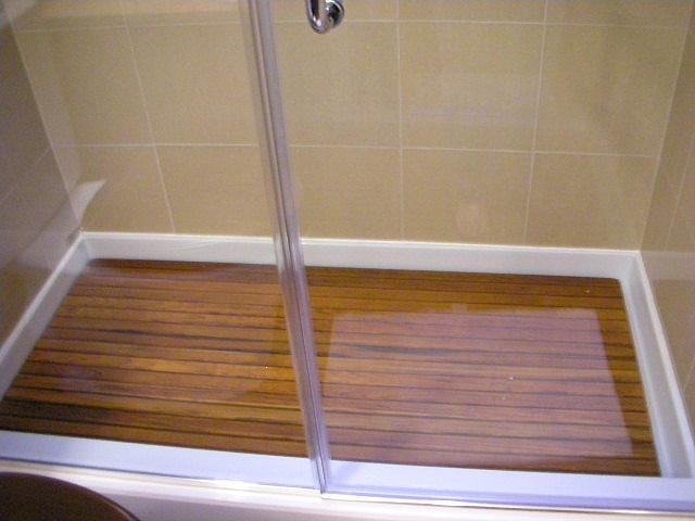 Teak Shower Base By Modernemama, Perfect For A Basement Shower.