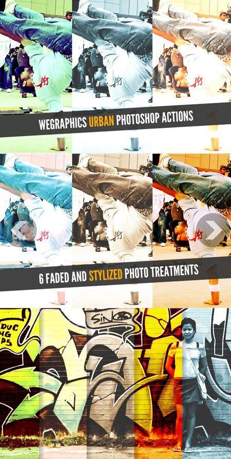 Экшен для фотографий - Urban — Различные PSD, PNG файлы для фотошопа