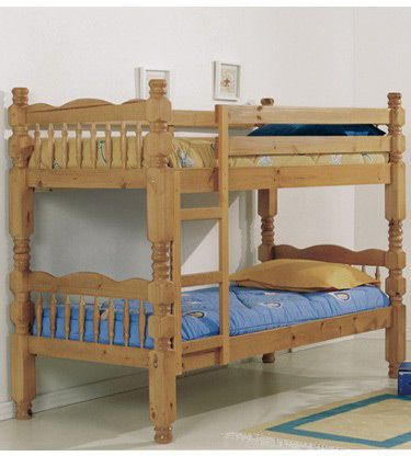 Verona Designs Antique Pine Bunk Bed A very sturdy bunk bed with turned legs in an antique pine finish giving it an aged look. This pine bunk offers a great space saving solution the bunk can easily be converted into two single beds when http://www.comparestoreprices.co.uk/bunk-beds/verona-designs-antique-pine-bunk-bed.asp