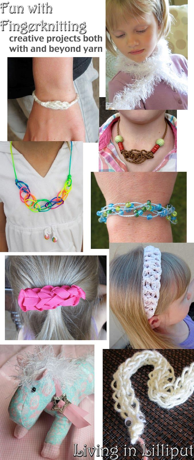 Best 25 finger knitting projects ideas on pinterest finger fun fingerknitting projects youll be surprised are so easy but so cute bankloansurffo Images