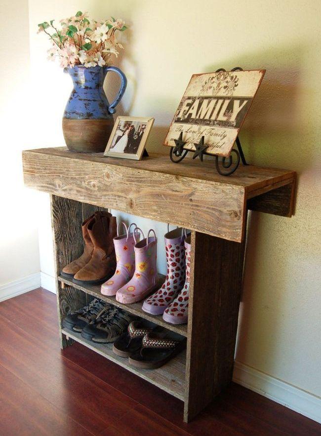 Обувница-стол из дерева - красиво и практично