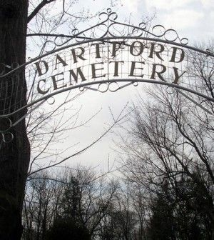 Local legend says the Dartford Cemetery in Green Lake, WI which was featured on the Discovery Channel show A Haunting, is haunted by the ghosts of an Indian chief, whose creepy headstone has now become infamous, Civil War soldiers, and children who died from polio.  The old pioneer cemetery gets it's name from the original village of Dartford, which became Green Lake, WI. The graves date back to the early pioneers from the 1800′s.  Other strange things said to happen include dark shadow…