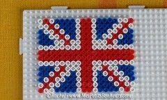 drapeau grande bretagne perles hama