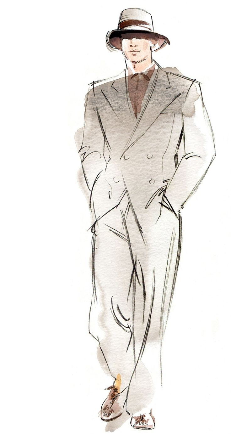 Man in coat illustration by Katharine Asher