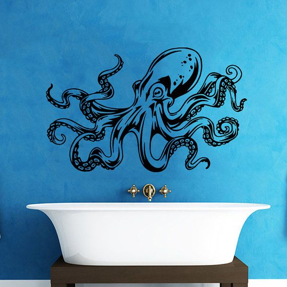 Octopus Wall Decal Tentacles Sprut Kraken Ocean Sea Animal Wall Decals Vinyl Sticker Interior Home Decor & 1884 best Wall Vinyl Decals images on Pinterest | Bedroom murals ...