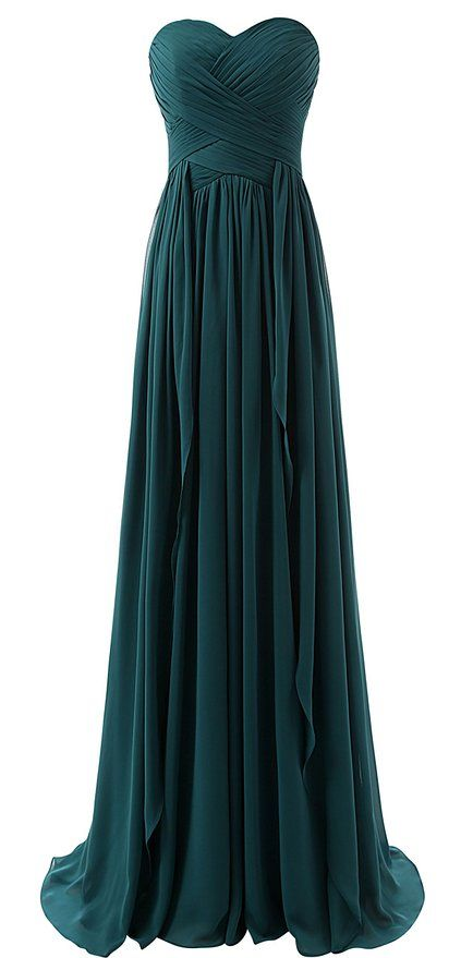 Lovelybride sweetheart chiffon long ruffles bridesmaid for Teal dress for wedding