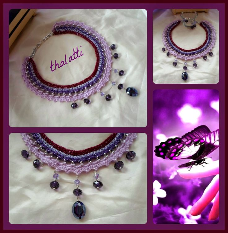 Θαλάττη: Purple Statement necklace