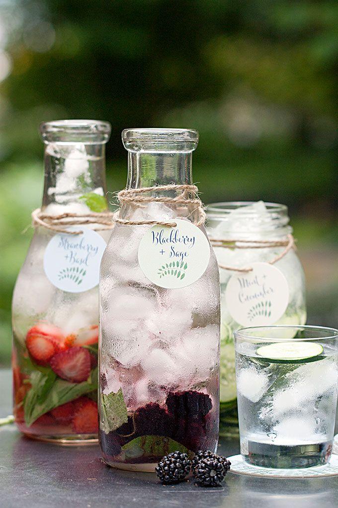 Sábado Sips!  Aguas saborizadas con las etiquetas y los prácticos de costa de Evermine {www.evermine.com}