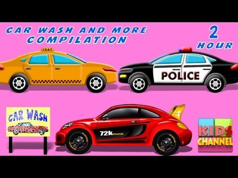 Car Wash | Car Service | kids videos | Compilation | Cars Race - YouTube