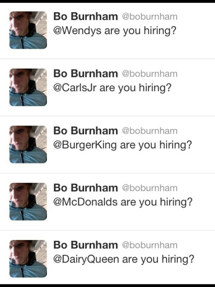 Bo burnham when his MTV show got cancelled Random Odds and Ends - indeed post resume