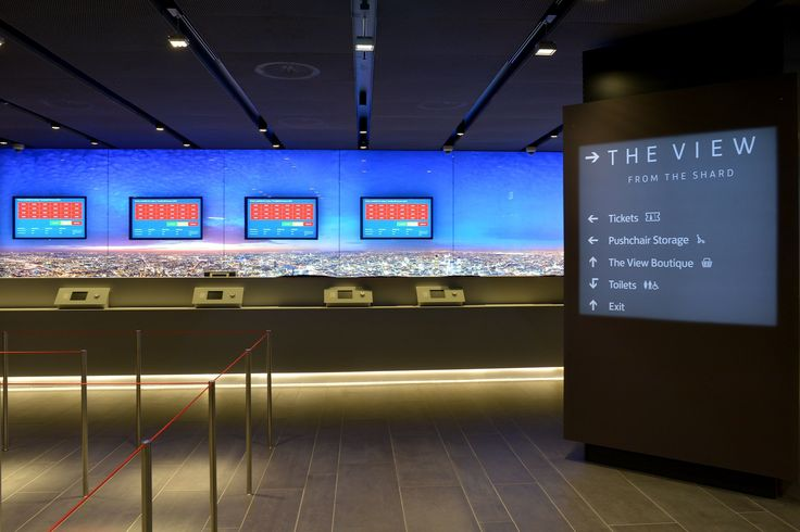 Around the gallery on the first floor, animated maps and video screens set the historic context of The Shard's London Bridge location.