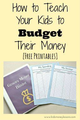 How to Teach Your Kids to Budget Their Money [with free printables]: Teaching kids how to budget their money is a life skill that can begin at an early age. Here are a few ways you can help your kids get started.