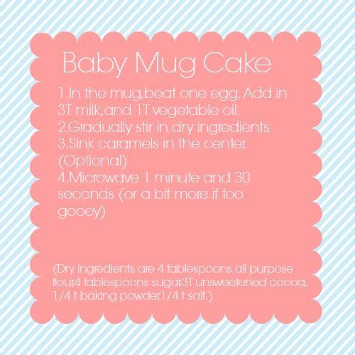 Mug Cake Pinterest