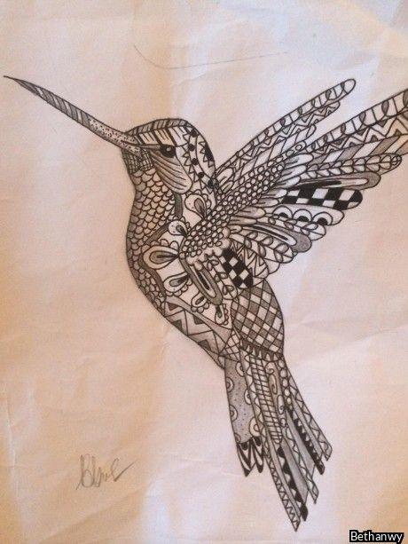 My Zentangle Hummingbird My Next