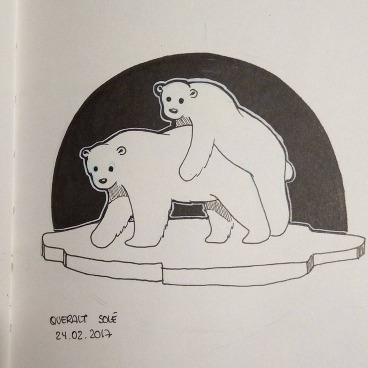 """29 Likes, 2 Comments - Queralt Solé (@l_ragnborg) on Instagram: """"today theme for artnestoltes is sex, i've done polar bears and i don't know why :D  #art #artist…"""""""