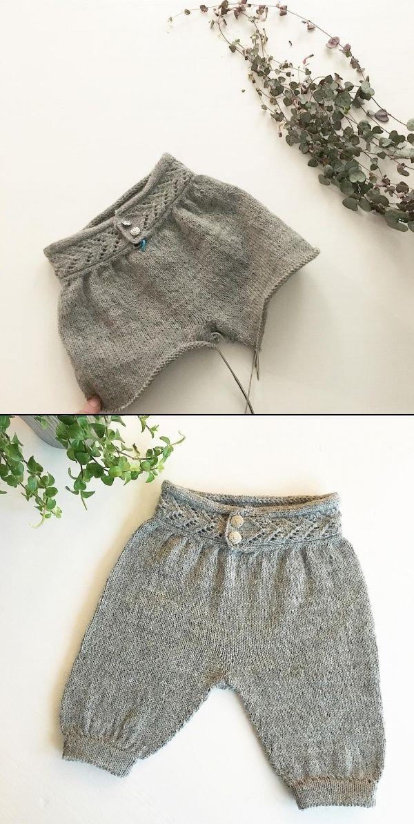 Knitted Baby Pants by Janne M H Kristiansen, becharmed_strikk on Instagram