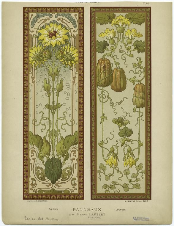 sunflowers and courgettes by henry lambert from album de