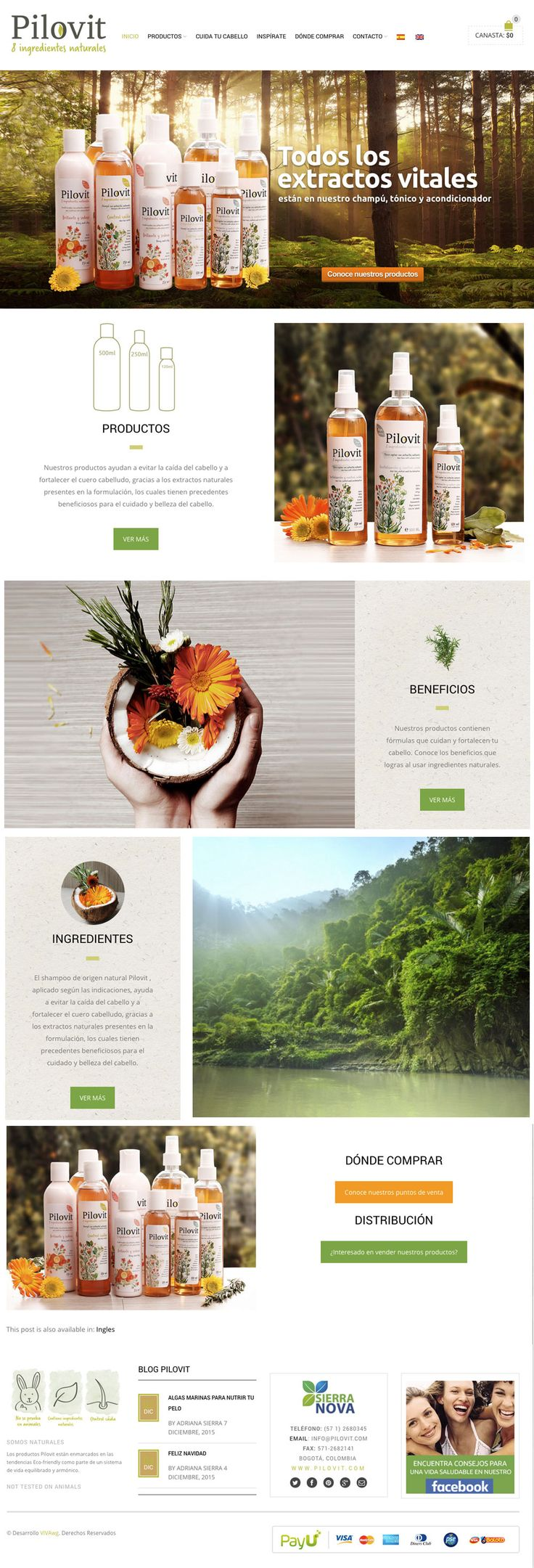Web design for PILOVIT - Diseño web #Ecommerce