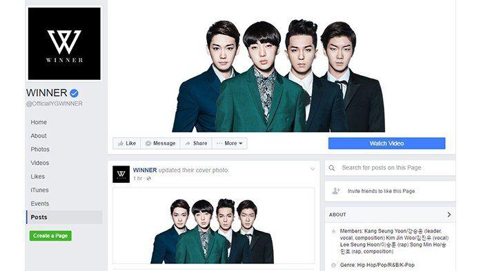Resmi Keluar, Facebook WINNER Unggah Foto Debut yang Editan Tanpa Nam Tae Hyun, Penggemar Berang!